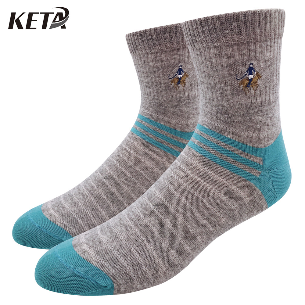 KETA Fashion Brand Polo Men Socks Male Casual Colorful Striped Cotton Socks For Man Casual Crew Business Dress Socks