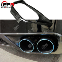 For Nissan R35 GTR Carbon Fiber Exhaust Suround GTR Surround CF Body Kit Car Styling Parts For R35 GTR OEM Style