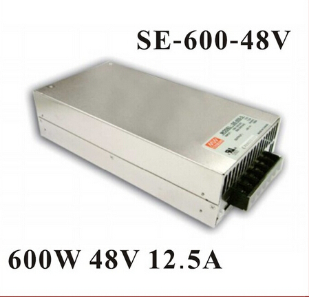 High Quality Mean Well Switching Power Supply 600W 48V 12.5A SE-600-48 Stepper Motor Switch Power SupplyHigh Quality Mean Well Switching Power Supply 600W 48V 12.5A SE-600-48 Stepper Motor Switch Power Supply