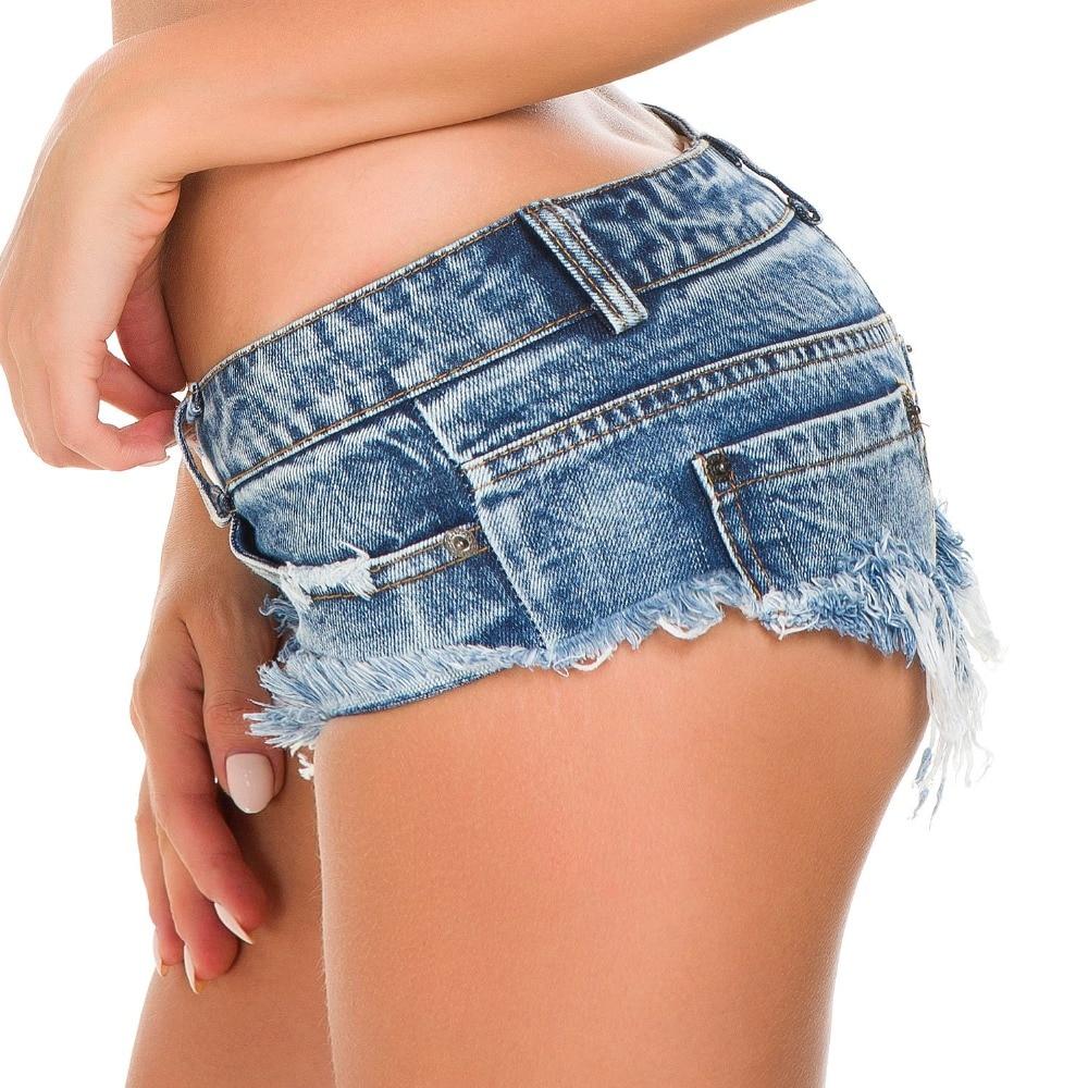Mini Short Sexy Club Femme Denim Shorts Female 2019 Summer Thong Jeans For Women Low Waist Bermudas Micro Short Jeans Feminino