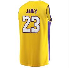 067595b9dcc 2018 LeBron James Jersey New Los Angeles Lakers  23 Basketball Jerseys  Stitched White Black Yellow Purple Men s Kids Patches 3