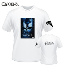 Game of Thrones 8 customize tshirt men modal print tops short sleeves tshirt homme Oversized regular O-neck tee large size tee все цены