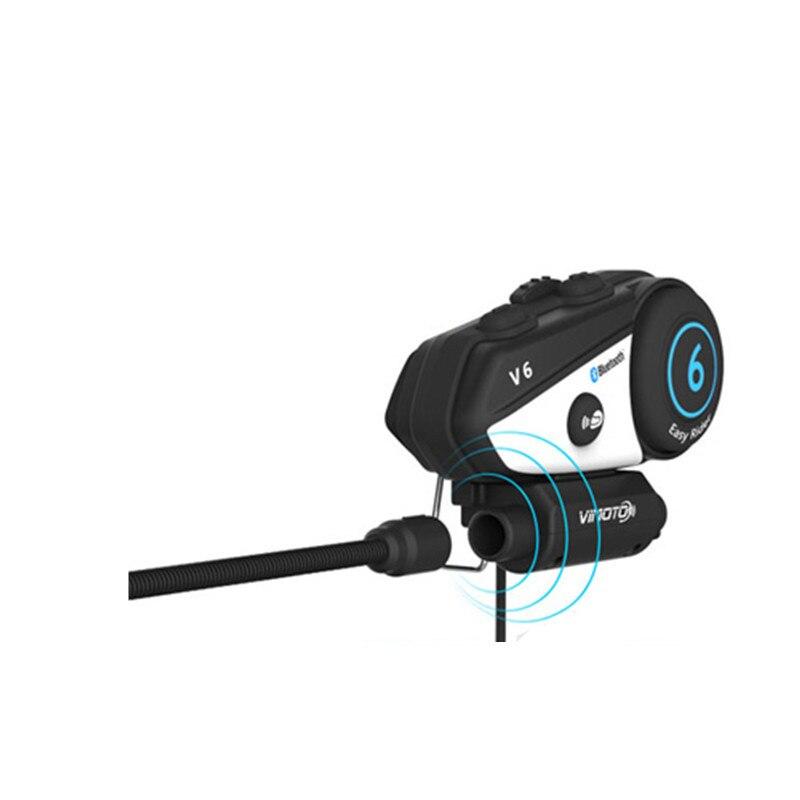 Image 2 - Vimoto V6 BT Interphone Motorcycle Helmet Headset Intercom  simultaneously pair 2 different Bluetooth High fidelity  transmissionvimoto v6v6 btbt interphone -