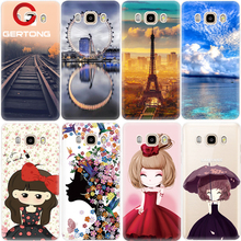 GerTong Landscape Smile Girl Soft Silicon Cases For Samsung Galax J3 J5 J7 S6 S7 Edge A3 A5 A7 Case Phone Bag Back Coque Capa(China)