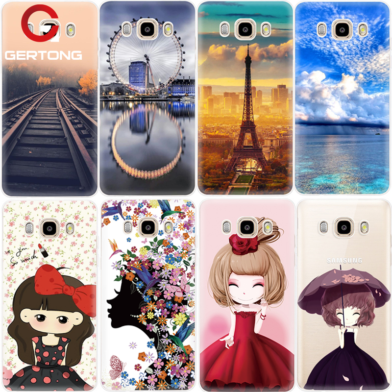 GerTong Landscape Smile Girl Soft Silicon Cases For Samsung Galax J3 J5 J7 S6 S7 Edge A3 ...