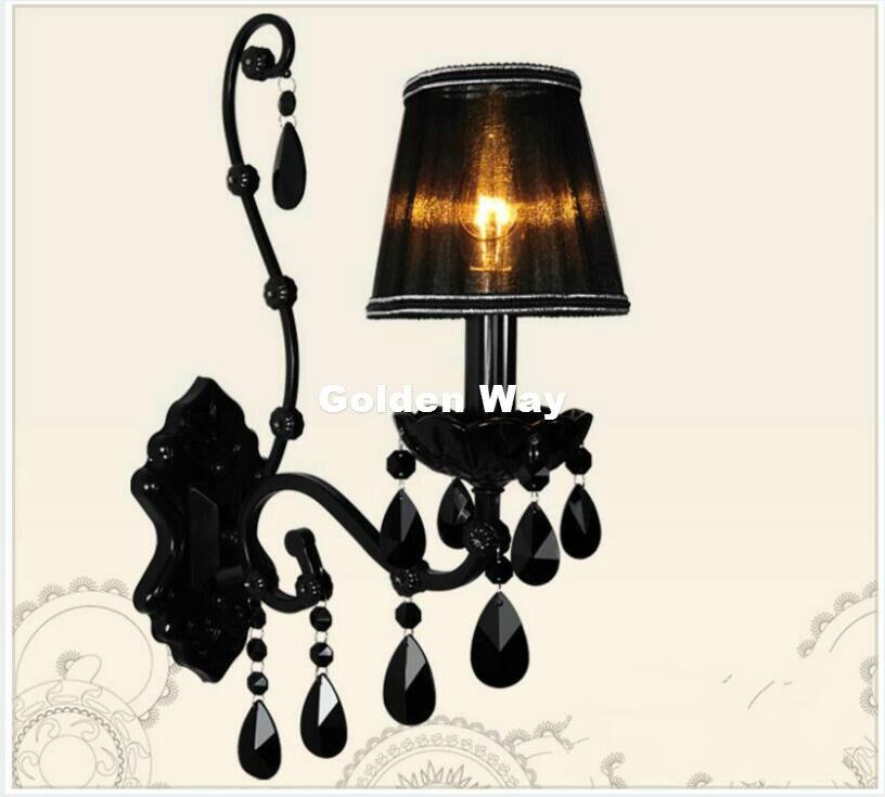O Envio gratuito de Cor Preta Decoração Sótão lâmpada de Parede Lâmpada de Parede Europeu Cama De Parede Luz Moderno Restaurante Iluminação Do Banheiro Decoração de Casa - 3