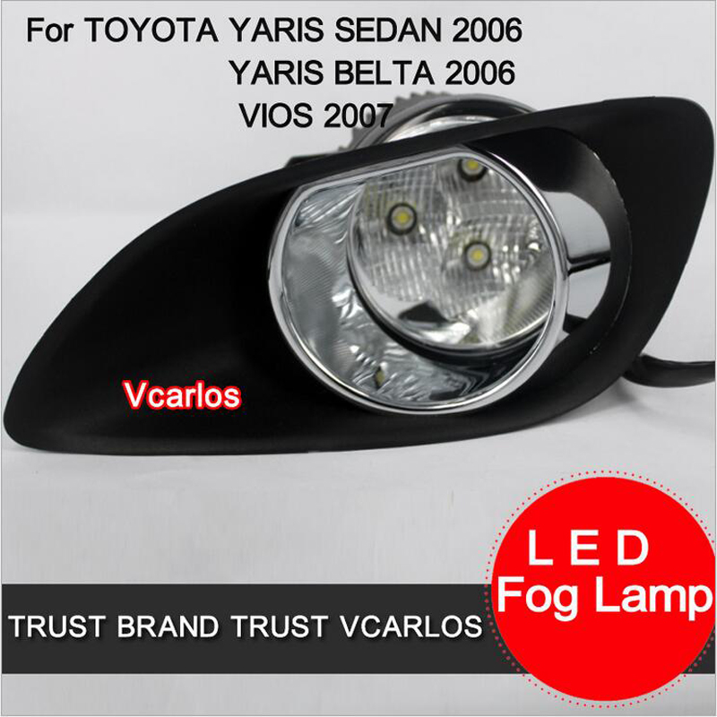 ФОТО Hireno Car Fog lights Lamp Cable Harness Halogen light switch control Set for Toyota VIOS 2007 2Pcs