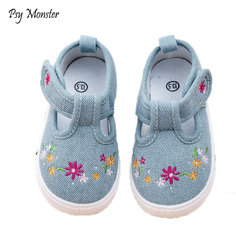 Children Girls New Causal Canvas Shoes Baby Boys Breathable Colorfull Flower Shoes Tolddlers Chaussure Enfant Sneakers