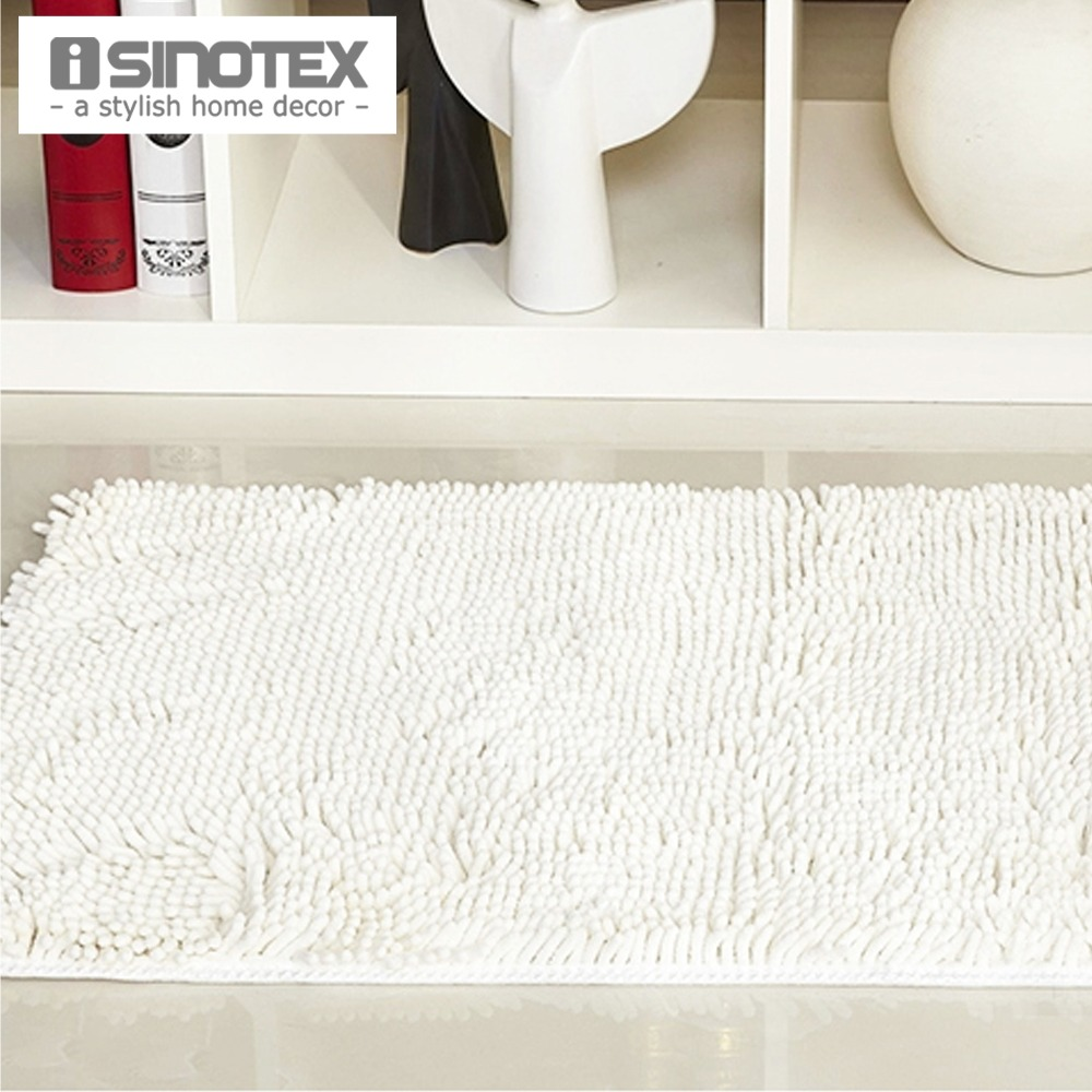 White Floor Mat Home Carpet Soft Gy Water Proof Footcloth Bath Living Chenille