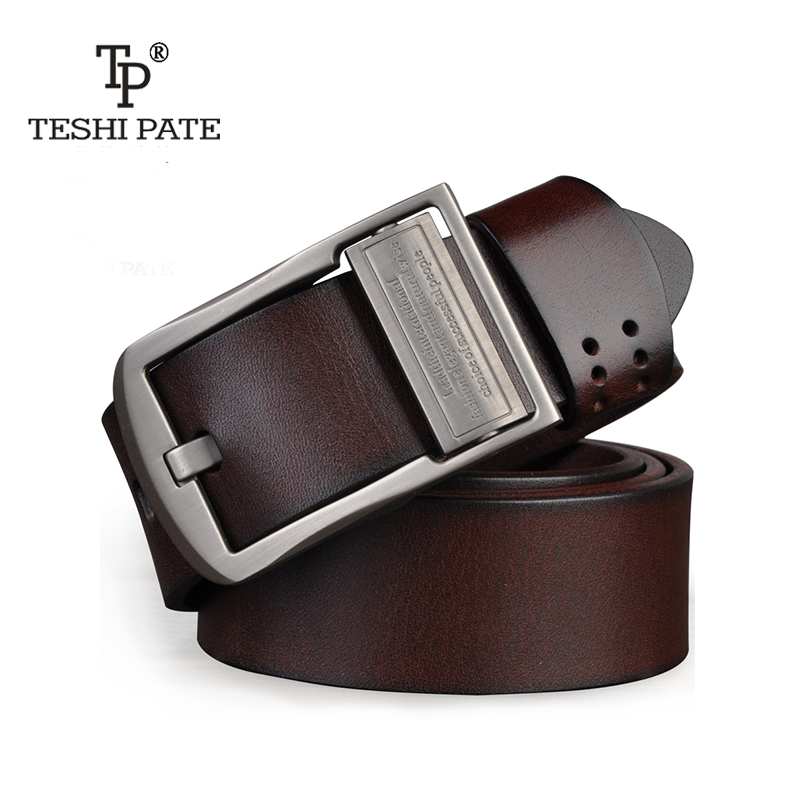 TESHI PATE TP men belt 2018 Top cowhide Italian first layer of cow leather casual belt Fashion business