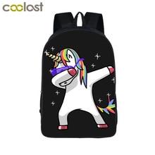 Funny Dab Panda Unicorn Backpack For Teens Boys Dab On Em Kids Book Bag Children School Bags Men Women Hip Hop Backpack Book Bag
