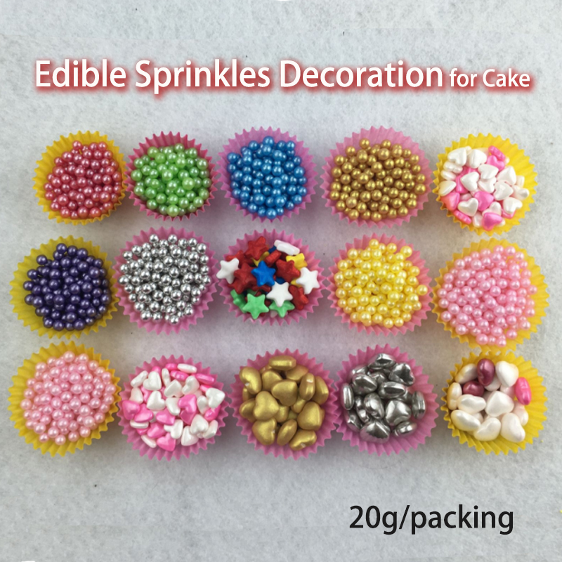 Heart,Golden Sliver,Jimmie Colorful Sprinkles Cake Edible Decoration,20g ,Decorating For Cup Cake, Dessert, Ice Cream, Donuts