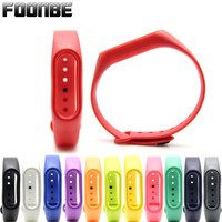 Foonbe Silicone Strap for Xiaomi for Mi Band 2 Strap Wristbands Accessories for Miband 2 Bracelet For Mi Band 2 12 Colors