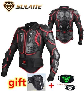 Pancerz motocyklowy kurtka zbroja motocyklowa koszula kurtka motocross na plecy ochraniacz ramienia biegów S-4XL czarny Veste de moto tanie i dobre opinie NYLON WZ22