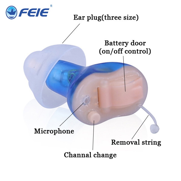 aparelho para surdez Hearing aid Type and Rehabilitation Therapy Supplies Properties Super Mini Hearing Aid S-17A processing properties