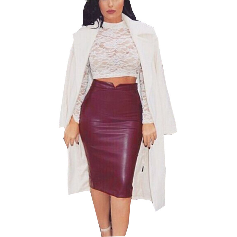 Online Buy Wholesale hot leather skirt from China hot leather ...