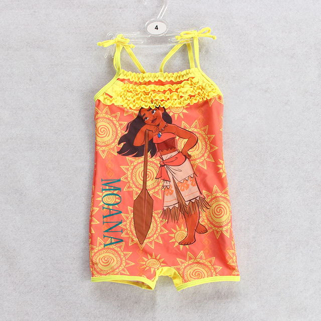 Girls Swimwear Children One Piece Swimsuits Kids Printed Bathing Suits Toddlers Boxers Swimwear With Cotton Lining Girls Bathers