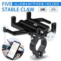 Aluminum Universal Bicycle Phone Mount Holder MTB Mountain Bike Motorcycle Handlebar Clip Stand for 3.5