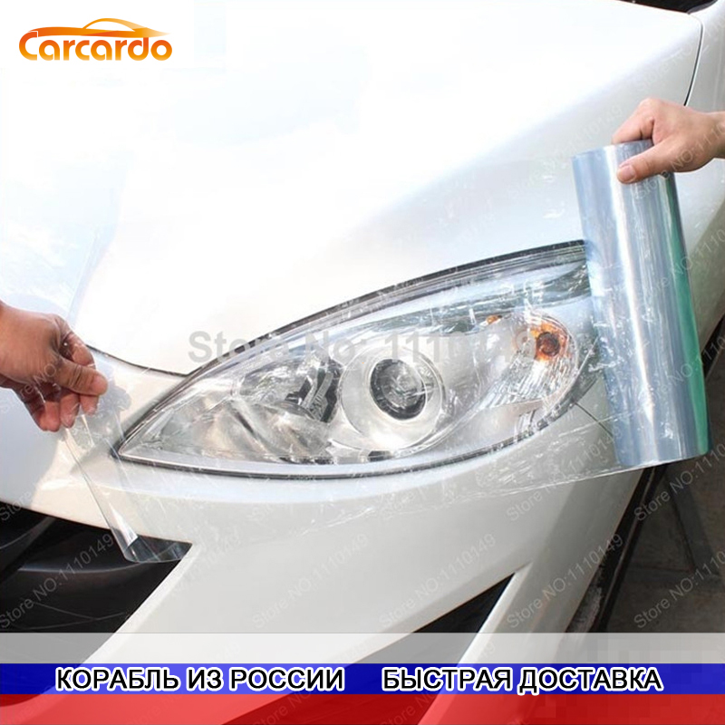 Carcardo 30cm X 200cm Car Headlight Taillight Tint Vinyl Film Sticker Car Fog Light Rear Lamp Viny Stickers -13 Color Option