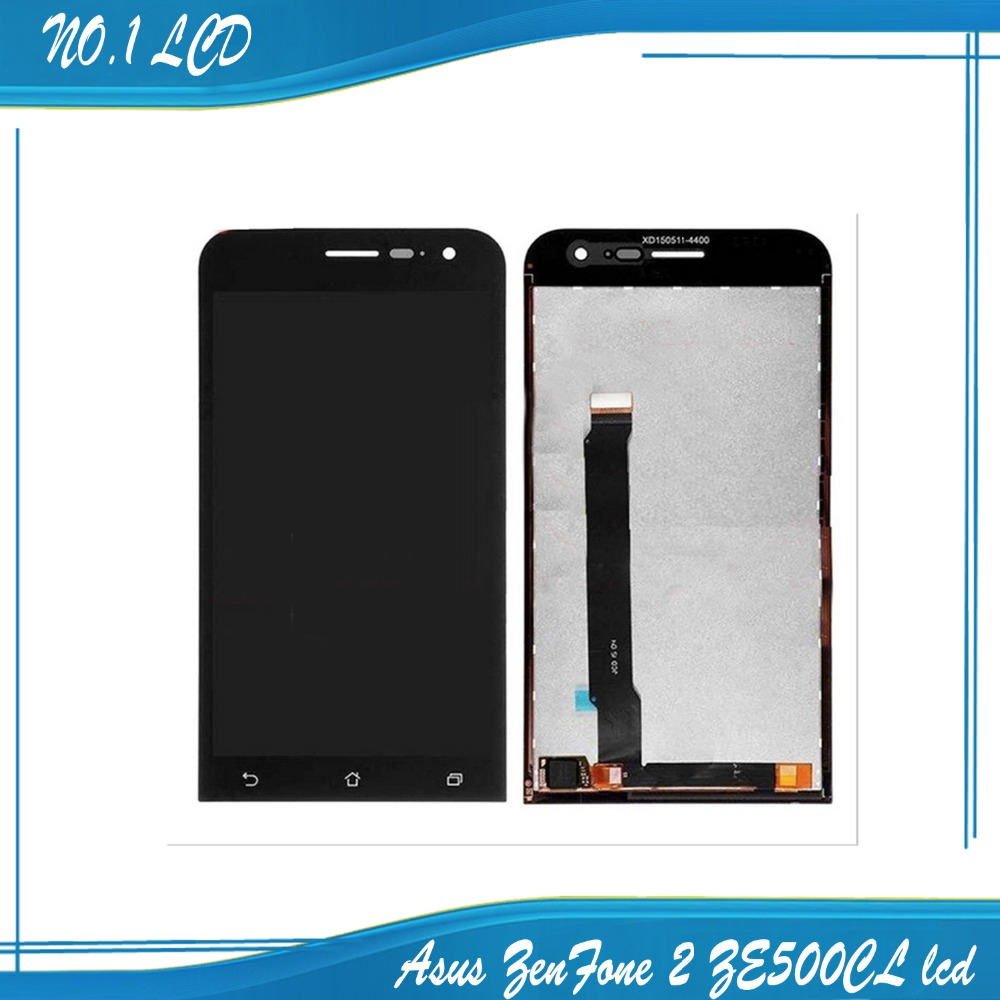 Black LCD+TP for Asus ZenFone 2 ZE500CL 5.0 LCD Display+Touch Screen Digitizer Panel Assembly Replacement Free Shipping оптика