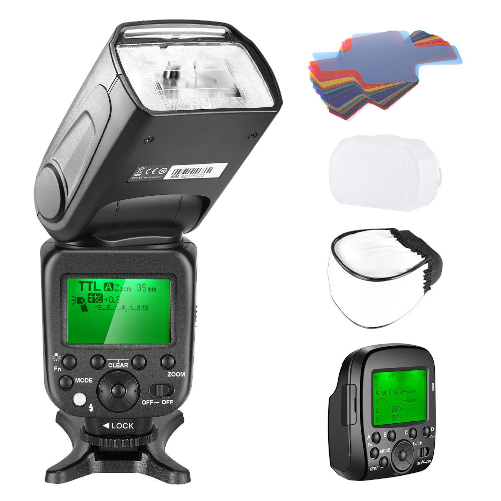 Neewer 2.4G Wireless 1/8000s HSS TTL Master Slave Flash Speedlite Kit for Sony A7 A7R A7S A7II A7RII A7SII A6000 A6300 Cameras neewer 2 4g wireless 1 8000s hss ttl master slave flash speedlite kit for sony