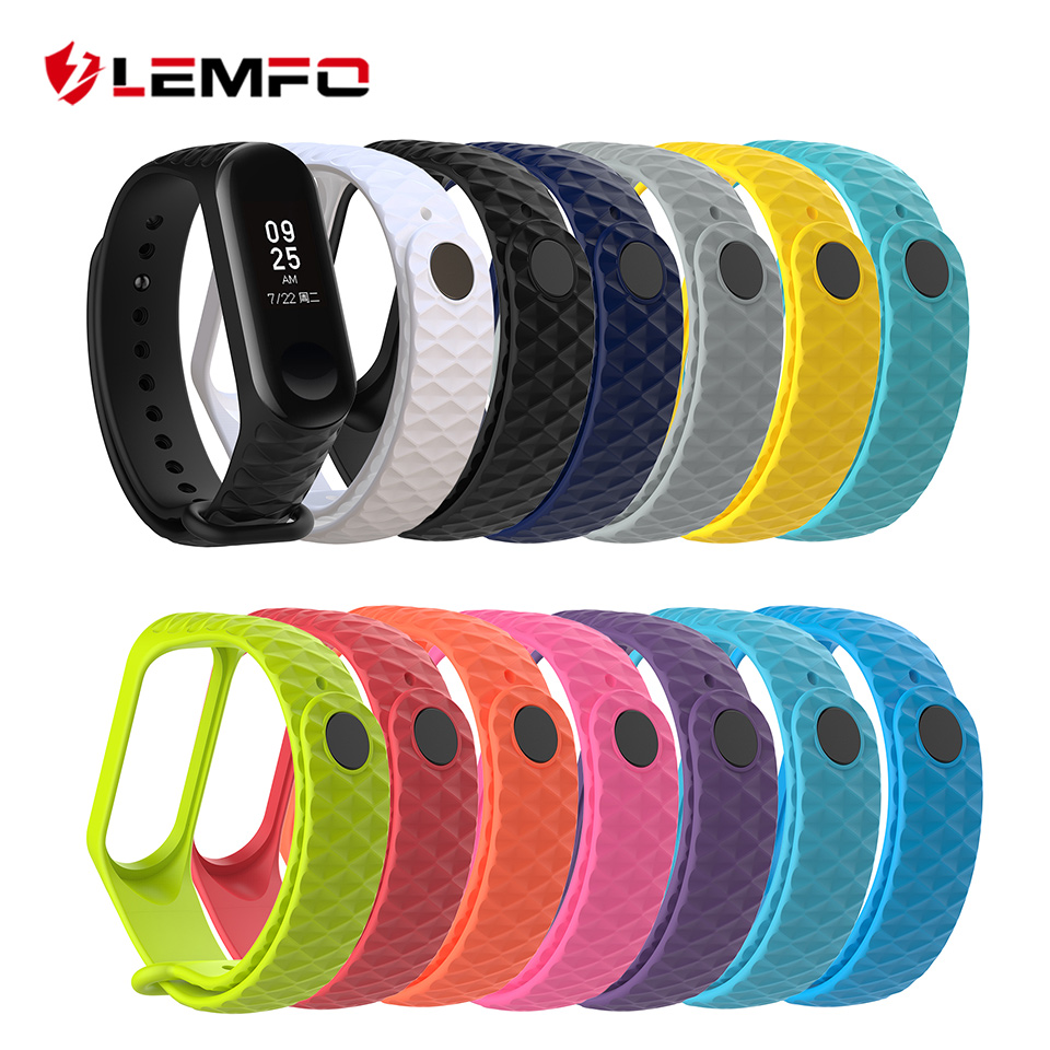 LEMFO Colorful Bracelet for Xiaomi Mi Band 3 Strap Sport Silicone Wrist Strap Original Accessories Replacement For mi band 3 цены онлайн