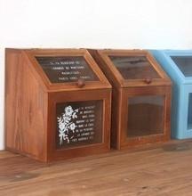 ZAKKA продуктовый стиль vintage деревянный ящик шкафа стеклянные box home storage box