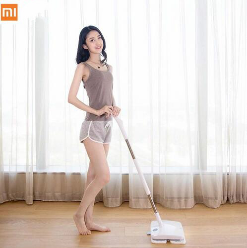 3 year warranty xiaomi swdk wireless handheld electric mop wiper floor washers with mops light. Black Bedroom Furniture Sets. Home Design Ideas