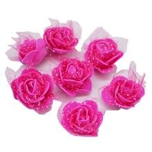 50/100pcs Multicolor Artificial PE Foam Rose Flower Head Wedding Home Decoration Handmade Flowers DIY Scrapbooking Crafts