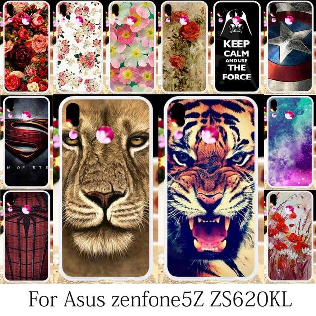 buy online 2c95a c842a US $2.87 20% OFF TAOYUNXI Silicone Cases For Asus Case For Asus Zenfone 5z  ZS620KL Zenfone 5 ZE620KL 6.2 inch Soft TPU Cover Cases-in Fitted Cases ...