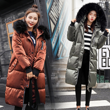 2018 Fashion Loose Warm Winter Coat Women Large Fur Collar Down Jacket Women Medium-long Thickening Parka Female Plus Size Coats