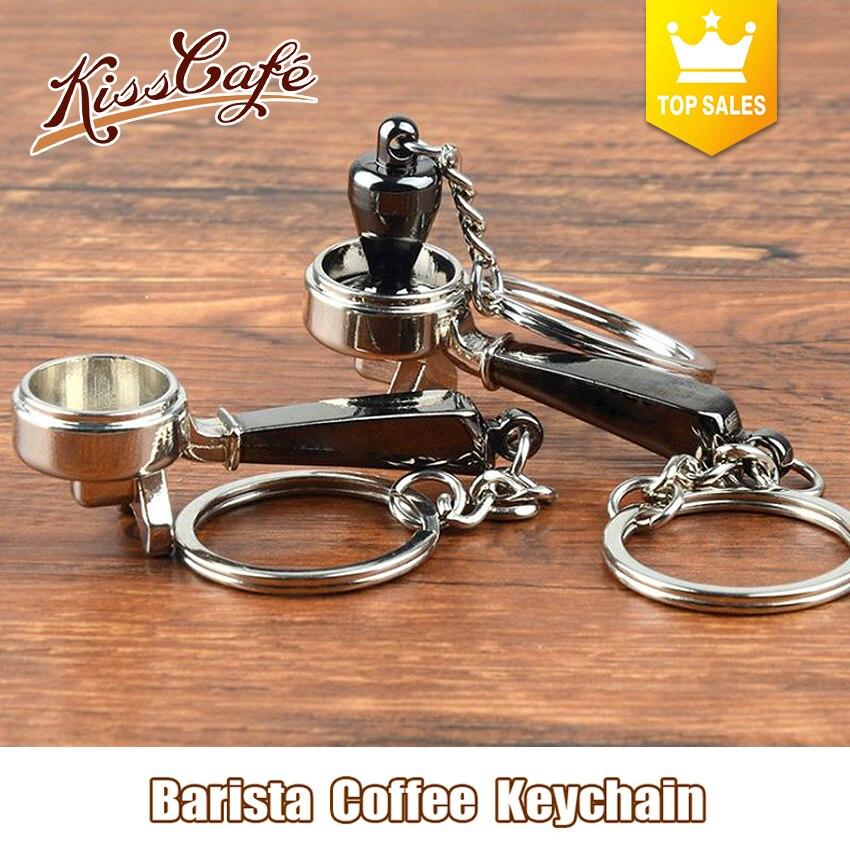 سلسلة مفاتيح إبداعية لصنع القهوة من باريستا أداة تزيين القهوة مزود بمقبض موكا إسبريسو أداة تزيين قهوة محمولة ملحقات هدية