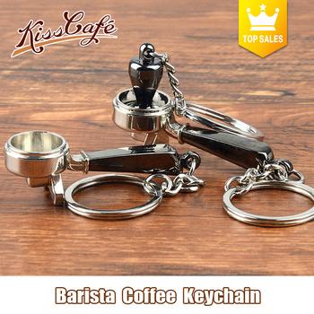 Kreatywny profesjonalnego przygotowania kawy sabotaż brelok ekspres do kawy uchwyt Moka dzban brelok przenośne akcesoria do kawy Espresso prezent tanie i dobre opinie KissCafe Metal KC-268 Osiem częściowy zestaw
