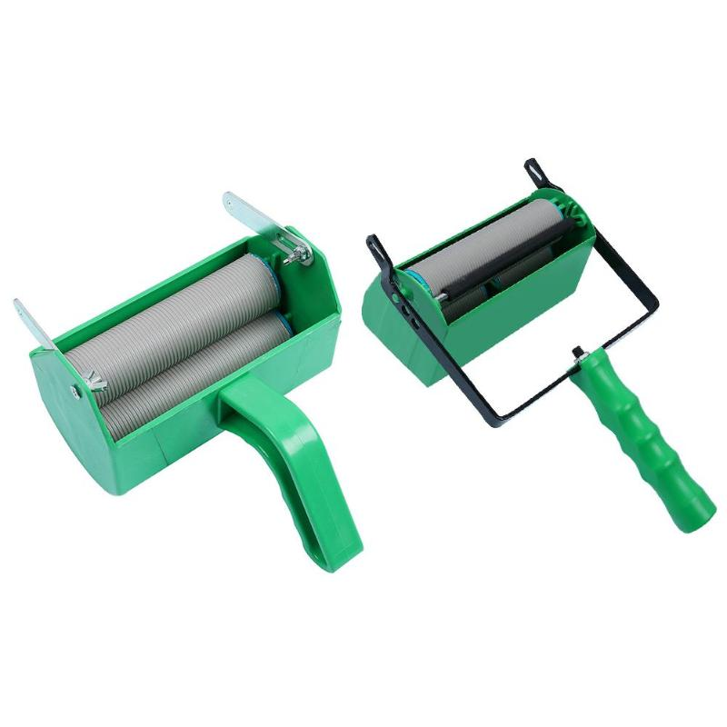 5 Inch Single/Double Color Flowers Pattern Paint Roller Wall Decoration Paint Painting Machine For Wall Roller Brush Tool