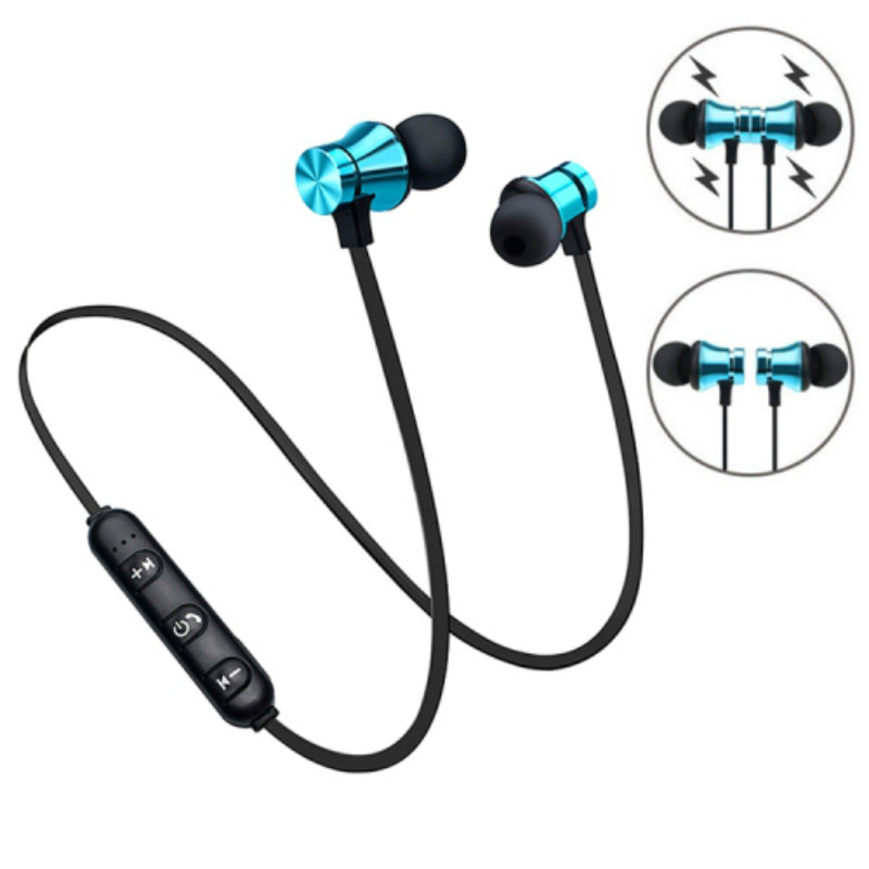 XT11 Sports Running Bluetooth Wireless headphone Active Noise Cancelling earphone for phones and music bass Bluetooth Headset magnetic attraction bluetooth earphone headset waterproof sports 4.2