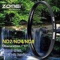 Original ZOMEI 77mm Neutral Density ND2 ND4 ND8 ND Filter for Canon Nikon Olympus Sony Pentax Fujifilm Hoya Lens 77 mm