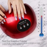 Modelones N9 UV Led Lamp Nail Dry Machine 48W Nail Lamp For UV Gel Unique Rose Silicon Pad Nail Led Lamp Infrared Sensor Dryer