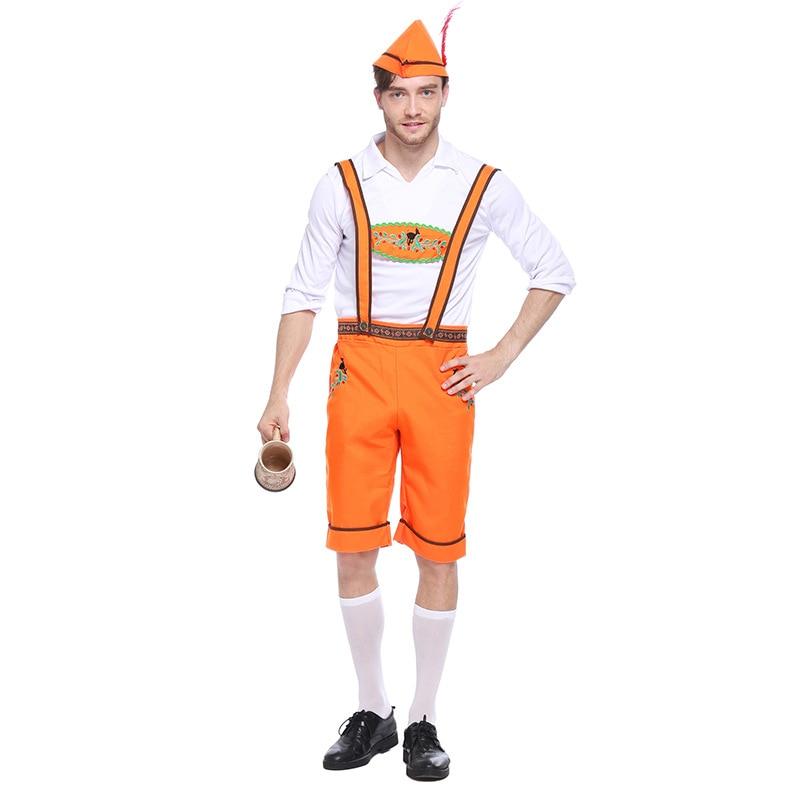 Adult Man Bavaria Oktoberfest Lederhosen Rompers Outfit Bar Party Beer Festival Carnival Costume