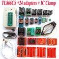 TL866CS programador + 24 adaptadores + IC BRAÇADEIRA de Alta velocidade TL866 AVR PIC Bios 51 MCU Eprom Programmer Russo Inglês manual