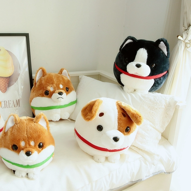 1pc 30cm Cute Shiba Inu Jack Russell Terrier Boston Dog Plush Toys
