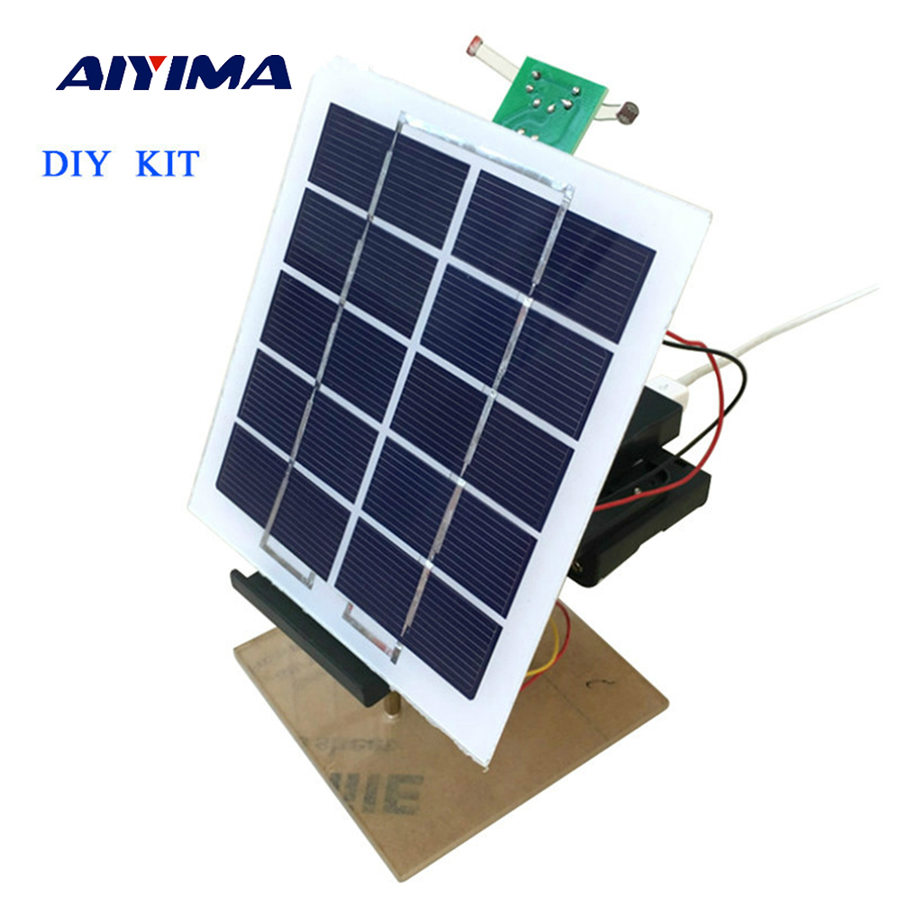 Aiyima 1 Sets Solar Panel Power Automatic Tracking Controller Mobile Charger Electronic DIY KITS