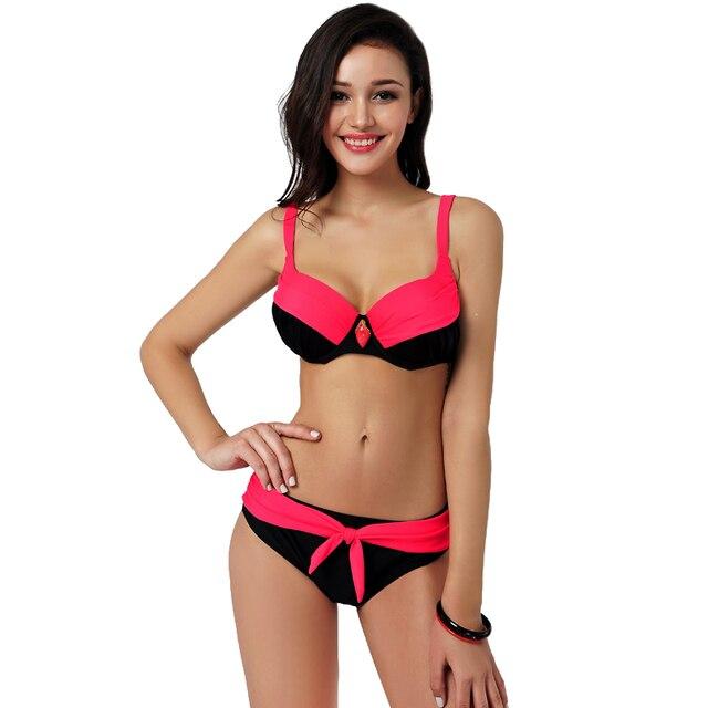 af8ea20acb New Plus Size Bikini 2017 Summer Swimsuit Vintage Bottoms Sexy Bikini Sets  Swim Suit Beach Bathing