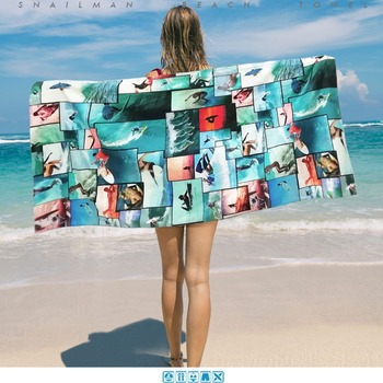 Brand Surfing  Towel Microfiber Travel Picnic Towel Surfboard Dive Hawaii Compact beach Towel  1