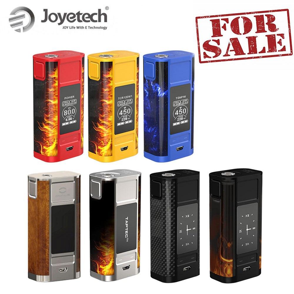 Original Joyetech cuboide grifo caja Mod con pantalla OLED 228 W Kit de batería alimentado por 18650 cigarrillo electrónico gran venta ¡!