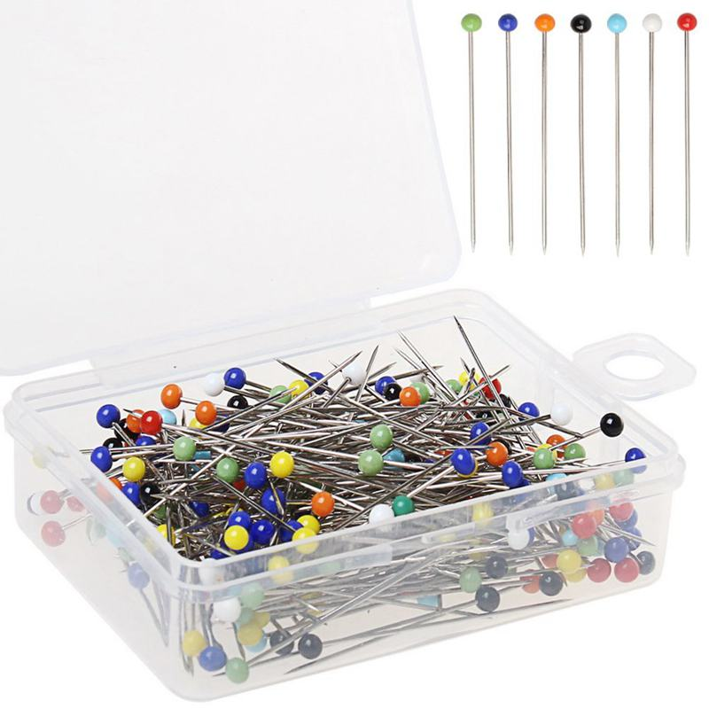 250 Pieces Sewing Pins Ball Glass Head Pins Straight Quilting Pins For Dressmaker Jewelry Decoration(China)