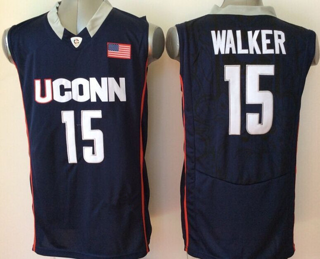 7f14e09134a0 College 15 Kemba Walker Uconn Jersey Basketball Kemba Walker Charlotte  Jersey purple white teal green