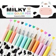 60 pcs/Lot Milky gel pen Diamond ball pens 0.38mm liner Stationery Canetas papelaria material escolar school supplies FB257