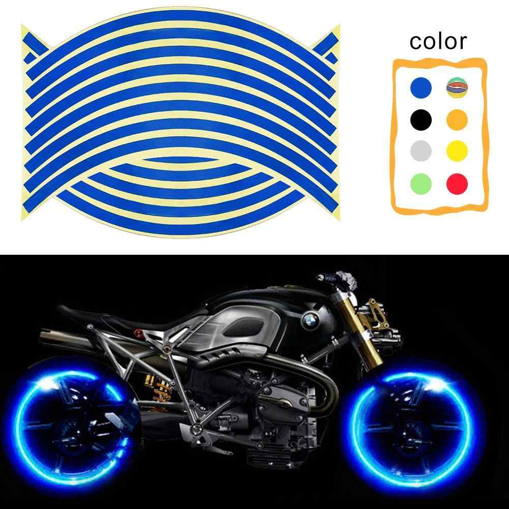 Strips Wheel Stickers Decals Reflective Rim Tape Motorcycle Car Tape Great #HD3