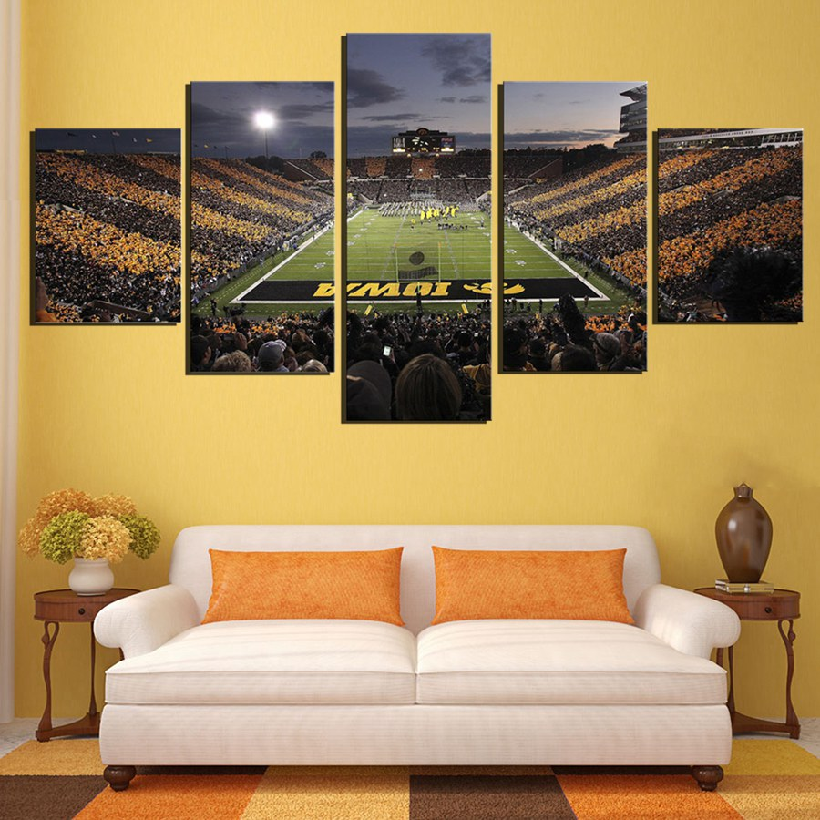 Iowa Hawkeyes Football Ground Pictures Sport Team Framed Wall Art ...