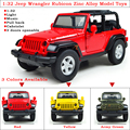 1 Piece High Simulation 1:32 Pull Back Jeep Wrangler Rubicon Zinc Alloy Diecasts Model Toy Vehicles With LED Light and Music